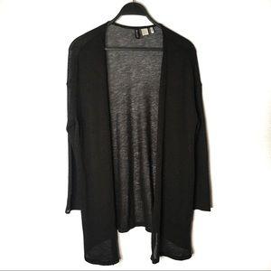 H&M Black Knit Open Cardigan